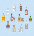 bottle icons 09 vector image vector image