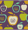 brush grunge apple seamless pattern vector image vector image