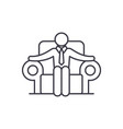 ceo line icon concept ceo linear vector image