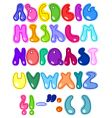 cheerful letters vector image