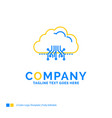 cloud computing data hosting network blue yellow vector image vector image