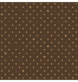 Coffee Brown Star Polka Dots Background vector image vector image