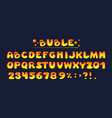 comic game font kids letters cartoon bubble fonts vector image