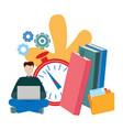concepts for online education e-book e-learning vector image vector image