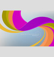 curvy colors concepts scene vector image vector image