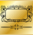 decorative frames retro black frame vector image vector image