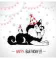 dog birthday vector image vector image