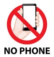 dont use mobile phone signs vector image