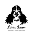 English cocker spaniel black dog logo vector image