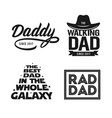 fathers day gift for dad t-shirt design set vector image vector image