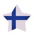 finland flag emblem vector image vector image