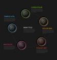 five circles diagram template vector image vector image