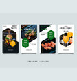 food and culinary instagram stories promotion vector image vector image