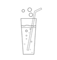 Glass soda icon transparent vector image