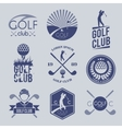 Golf club label vector image vector image