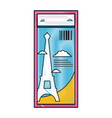 grated eiffel tower of paris ticket vacation vector image vector image