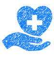 hand offer cardiology grunge icon vector image vector image