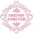 Happy friendship day Elegant beautiful card design vector image