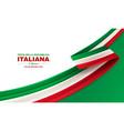 happy italian republic day vector image vector image