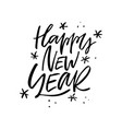happy new year lettering design vector image vector image