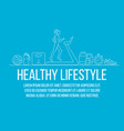 healthy lifestyle flat poster vector image