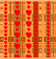 holiday seamless pattern with hearts vector image