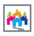 houses village concept icon design vector image