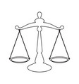isolated justice icon vector image