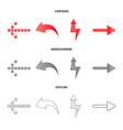isolated object of element and arrow icon vector image vector image