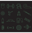 line craft icons set of fitness theme vector image vector image