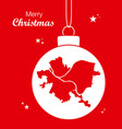 merry christmas theme with map of pittsburgh vector image vector image