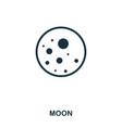 moon icon flat style icon design ui vector image vector image