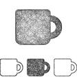 Mug icon set - sketch line art vector image vector image
