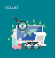 oculist concept flat style design vector image
