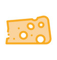 piece cheese icon outline vector image