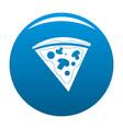 pizza icon blue vector image
