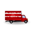 Red Small truck Silhouette vector image vector image