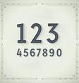 Retro Digits Vintage Typography vector image vector image