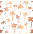 rose gold foil palm trees seamless pattern vector image vector image