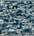 seamless pattern with traces military boots vector image
