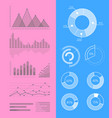 set graphs and diagrams for infographics vector image vector image