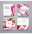 Set of brochure poster design templates in vector image