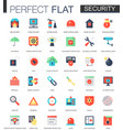 set of flat security and safety icons vector image vector image
