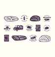 set of label logo and sticker for mexican vector image vector image