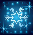 shining snow blur christmas snowflake decoration vector image vector image