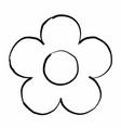 single flower vector image vector image