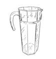 sketch of carafe vector image vector image