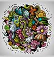 spring hand drawn cartoon doodle vector image vector image