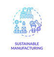 sustainable manufacturing blue gradient concept vector image vector image
