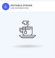 tea cup icon filled flat sign solid vector image vector image
